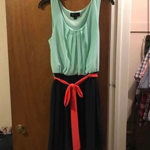 Teal and Navy Dress